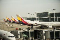 ASIANA AIRLINES - INCHEON INTERNATIONAL AIRPORT, S Royalty Free Stock Images