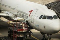 ASIANA AIRLINES - INCHEON INTERNATIONELL FLYGPLATS, S Arkivfoto