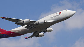 Asiana Cargo Aircraft Royalty Free Stock Photo