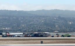 Asiana Flight 214 Plane Crash Royalty Free Stock Images