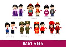 Free Asians In National Clothes. East Asia. Royalty Free Stock Images - 122452719
