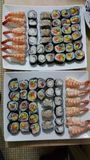 Asiansushi caseiro do japonesecuisine do sushi fotografia de stock royalty free