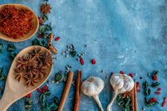Asiaskruiden en kruiden Stock Fotografie