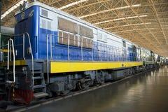 Asiat China, Peking, Bahnmuseum, Ausstellungshalle, Zug Lizenzfreie Stockfotos