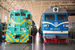 Asiat China, Peking, Bahnmuseum, Ausstellungshalle, Zug Lizenzfreies Stockbild