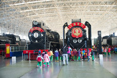 Asiat China, Peking, Bahnmuseum, Ausstellungshalle, Zug Stockfoto