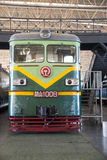 Asiat China, Peking, Bahnmuseum, Ausstellungshalle, Zug Stockfotos