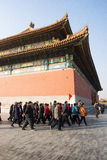 Asiat China, Peking, historische Gebäude, der Kaiserpalast Lizenzfreies Stockfoto