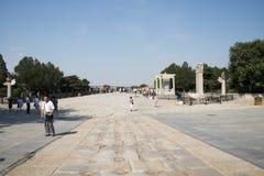 Asiat China, Peking, Lugou-Brücke, Orte des historischen Interesses und landschaftliche Schönheit Lizenzfreie Stockfotos