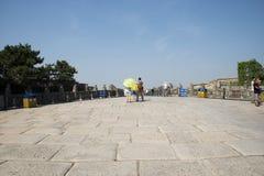 Asiat China, Peking, Lugou-Brücke, Orte des historischen Interesses und landschaftliche Schönheit Stockbilder