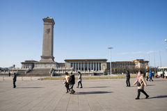 Asiat China, Peking, moderne Architektur, das Monument zu den Helden der Leute Stockbilder