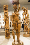 Asiat China, Peking, Nationalmuseum, die Ausstellungshalle, Afrika, hölzernes Schnitzen Lizenzfreie Stockfotografie