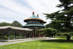 Asiat China, Peking, Tiantan, bizyklischer Wanshou-Pavillon Lizenzfreie Stockbilder