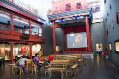 Asiat Kina, huvudmuseum, Peking, teater för Peking opera Royaltyfri Foto