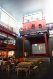 Asiat Kina, huvudmuseum, Peking, teater för Peking opera Arkivfoto