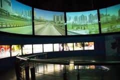 Asiat Kina, Peking, ŒIndoor för Kina nationell filmMuseumï ¼ mässhall, Arkivfoto