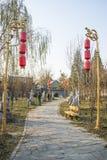 Asiat Kina, Peking, Gaobeidian, sonlig fromhetträdgård Royaltyfri Foto