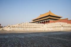 Asiat Kina, Peking, historiska byggnader, den imperialistiska slotten Royaltyfria Bilder