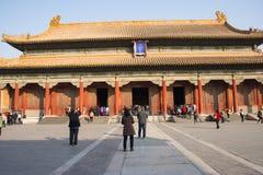Asiat Kina, Peking, historiska byggnader, den imperialistiska slotten Royaltyfri Foto