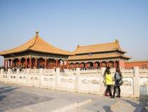 Asiat Kina, Peking, historiska byggnader, den imperialistiska slotten Royaltyfri Fotografi