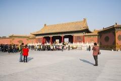 Asiat Kina, Peking, historiska byggnader, den imperialistiska slotten Arkivbild