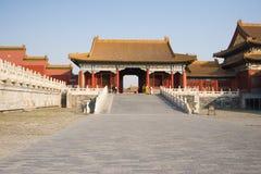 Asiat Kina, Peking, historiska byggnader, den imperialistiska slotten Fotografering för Bildbyråer