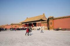 Asiat Kina, Peking, historiska byggnader, den imperialistiska slotten Arkivbilder