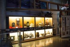 Asiat Kina, Peking, ŒIndoor för Kina nationell filmMuseumï ¼ mässhall, Arkivbilder