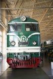 Asiat Kina, Peking, järnväg museum, mässhall, drev Arkivbild