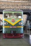 Asiat Kina, Peking, järnväg museum, mässhall, drev Arkivfoton