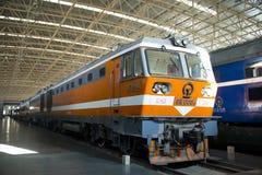Asiat Kina, Peking, järnväg museum, mässhall, drev Fotografering för Bildbyråer