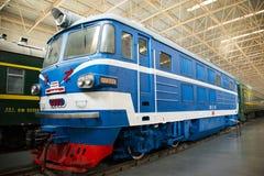 Asiat Kina, Peking, järnväg museum, mässhall, drev Royaltyfria Bilder