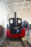Asiat Kina, Peking, järnväg museum, mässhall, drev Royaltyfria Foton