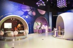 Asiat Kina, Peking, kinesisk ŒIndoor för vetenskap och teknikMuseumï ¼ mässhall, vetenskap och teknik, Royaltyfria Bilder