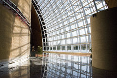 Asiat Kina, Peking, modern arkitektur, teatern för nationell tusen dollar Royaltyfri Bild