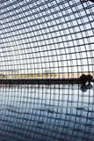 Asiat Kina, Peking, modern arkitektur, teatern för nationell tusen dollar Royaltyfria Bilder