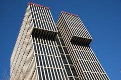 Asiat Kina, Peking, modern byggande CBD, Wanda Plaza Royaltyfria Foton