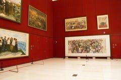 Asiat Kina, Peking, nationellt museum, mässhallen, modern arkitektur Royaltyfri Foto