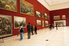 Asiat Kina, Peking, nationellt museum, mässhallen, modern arkitektur Royaltyfria Bilder