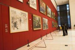 Asiat Kina, Peking, nationellt museum, mässhallen, modern arkitektur Royaltyfria Foton