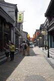 Asiat Kina, Peking, Qianmen Dashilan kommersiell gata, Arkivfoto