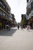 Asiat Kina, Peking, Qianmen Dashilan kommersiell gata, Royaltyfria Foton