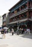 Asiat Kina, Peking, Qianmen Dashilan kommersiell gata, Royaltyfria Bilder