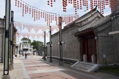 Asiat Kina, Peking, Qianmen kommersiell gata, Taiwan affärsområde Royaltyfri Foto