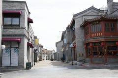 Asiat Kina, Peking, Qianmen kommersiell gata, Taiwan affärsområde Arkivbild