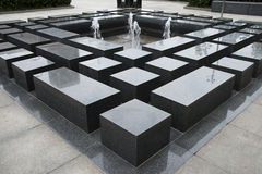 Asiat Kina, springbrunn, vila av Shitai Royaltyfria Foton