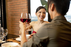 Asiat verbindet Lebensstil Stockfoto
