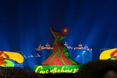 asiatet 2010 spelar guangzhou Arkivfoton