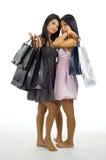 asiatet bags shopping två Arkivfoto