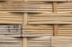 Asiatet handcraft av bambuvävstaketet Arkivbild